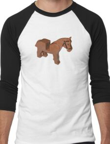 Toy Brick Horse Men's Baseball ¾ T-Shirt