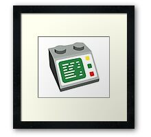 Toy Brick Computer Console Framed Print
