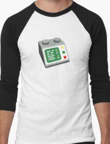 Toy Brick Computer Console Men's Baseball ¾ T-Shirt