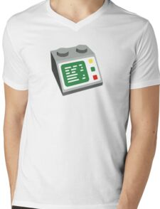 Toy Brick Computer Console Mens V-Neck T-Shirt