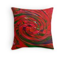 Red and Green Swirl Holiday Color Design Pattern Throw Pillow