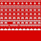 Space Invaders Christmas - winter sweater theme by Tee Brain Creative