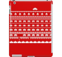 Space Invaders Christmas - winter sweater theme iPad Case/Skin