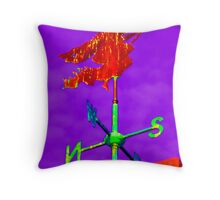Series:  Weathervanes of New England-  Witch Way The Wind Blows Throw Pillow