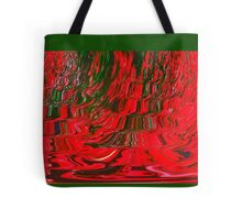 Red and Green Flowing Ribbon Design Pattern Holiday Christmas Tote Bag