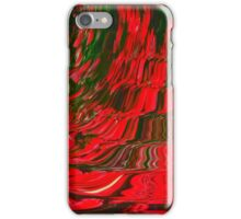 Red and Green Flowing Ribbon Design Pattern Holiday Christmas iPhone Case/Skin