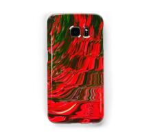 Red and Green Flowing Ribbon Design Pattern Holiday Christmas Samsung Galaxy Case/Skin