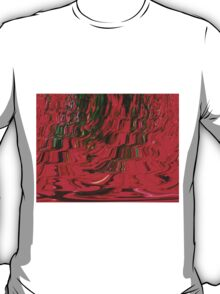 Red and Green Flowing Ribbon Design Pattern Holiday Christmas T-Shirt