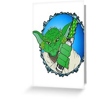 Yoda Ready to duel Greeting Card