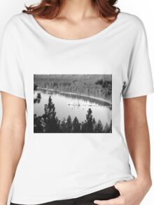 Black And White Landscape 7  Women's Relaxed Fit T-Shirt