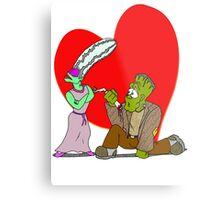 Monster Proposal Metal Print