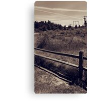 Casual Fence Canvas Print