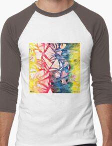 Aqua Men's Baseball ¾ T-Shirt