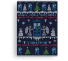 Wibbly Wobbly Timey Wimey Christmas Canvas Print