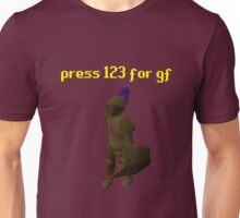 press 123 for gf Unisex T-Shirt