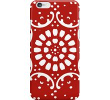 red background  iPhone Case/Skin