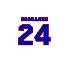 National Hockey player Derek Boogaard jersey 24 Photographic Print