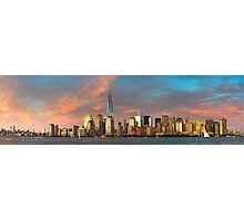 Panoramic of Downtown Manhattan Photographic Print