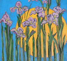 The Sun and Wild Irises by Kargin