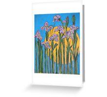 The Sun and Wild Irises Greeting Card