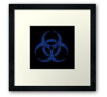 Binary Biohazard (Blue) Framed Print