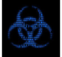 Binary Biohazard (Blue) Photographic Print