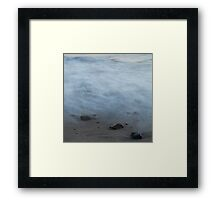 Dreamy abstract water, beach Framed Print