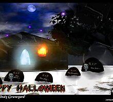 Haunted Windy Graveyard by Drumthrasher4hr