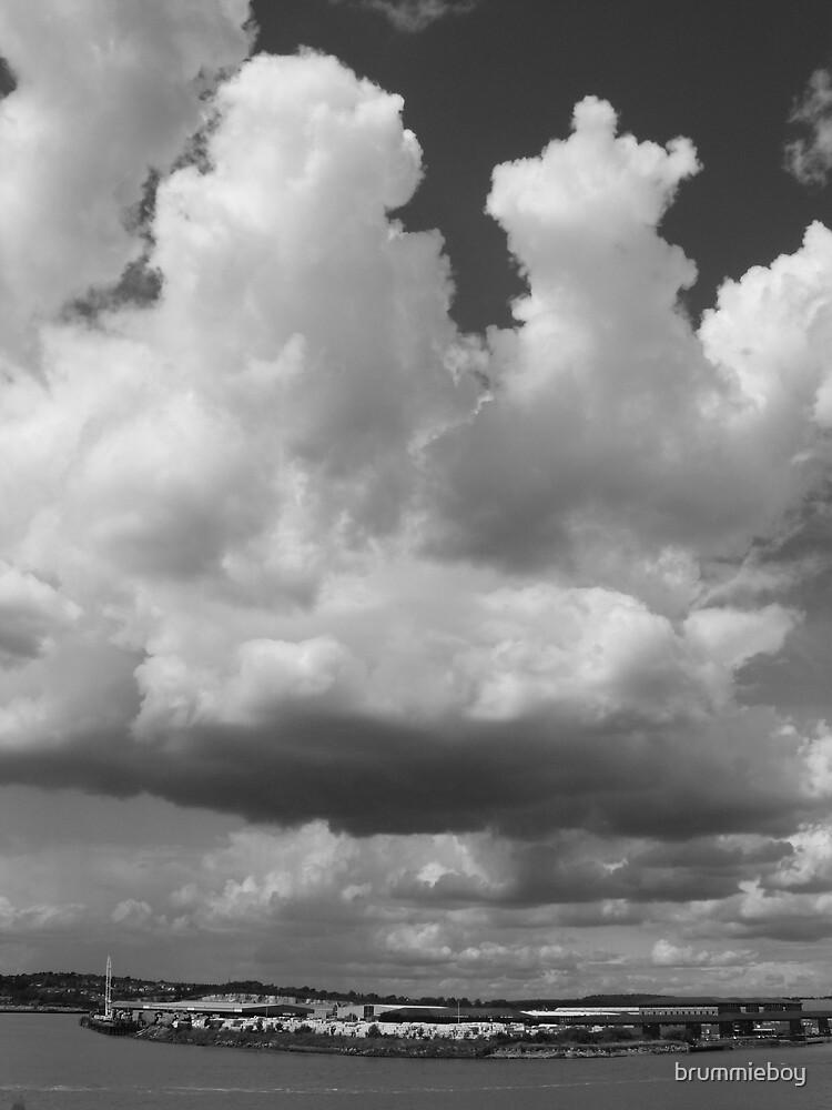 B & W Cloud study (1) by brummieboy