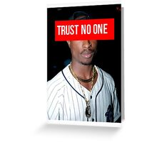 2PAC Trust No One face Supreme Greeting Card