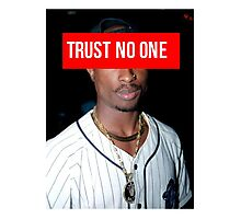 2PAC Trust No One face Supreme Photographic Print