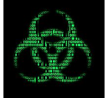 Binary Biohazard (Green) Photographic Print