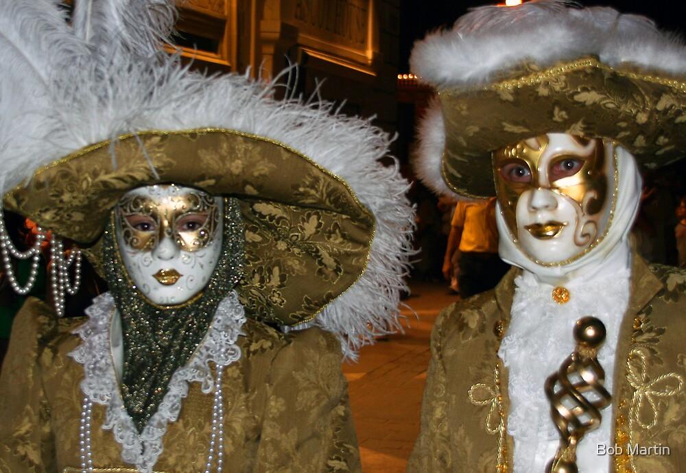 Venetian masks by Bob Martin