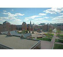 Rooftop Courtyard  Photographic Print