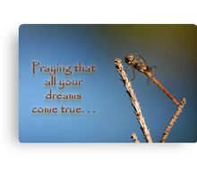Praying that all your dreams come true . . . Canvas Print
