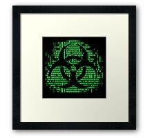 Binary Biohazard Symbol (Green) Framed Print