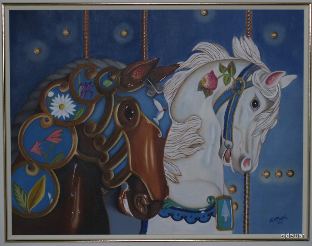 Carousel Horses by sjdewar