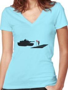 Stop all War Women's Fitted V-Neck T-Shirt