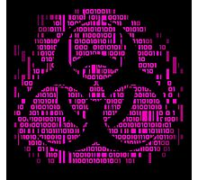 Binary Biohazard Symbol (Pink) Photographic Print
