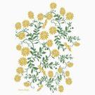 Fashion -yellow lace gown/ yellow flower pattern (91121 Views) by aldona