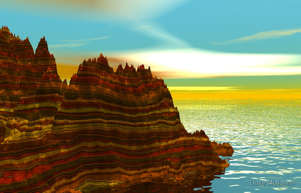 Sunrise on the Painted Cliffs by Dave Moilanen