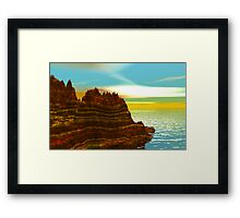 Sunrise on the Painted Cliffs Framed Print