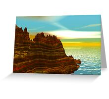 Sunrise on the Painted Cliffs Greeting Card