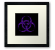 Binary Biohazard (Purple) Framed Print