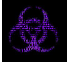 Binary Biohazard (Purple) Photographic Print