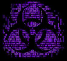 Binary Biohazard Symbol (Purple) by GrimDork