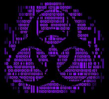 Binary Biohazard Symbol (Purple) by GrimDork