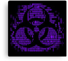 Binary Biohazard Symbol (Purple) Canvas Print