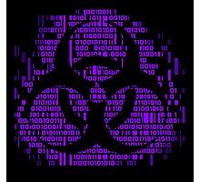 Binary Biohazard Symbol (Purple) Photographic Print