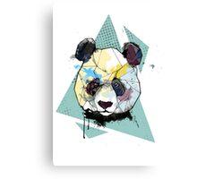 Geometric Watercolor Panda Bear Canvas Print